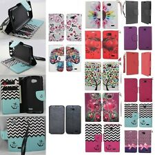 For LG Optimus L90 Cell Phone Case Hybrid PU Leather Wallet Pouch Flip Cover
