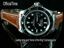 OfficialTime 20/16mm Buffalo Strap / Band & AK End Link fit Rolex Submariner