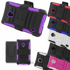 For LG Lucid 2 VS870 Rugged Hybrid Holster Stand Belt Clip Case Hard Cover