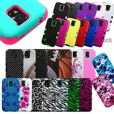 Hybrid Rubber Hard Skin Tuff Protective Case Cover For Samsung Galaxy Phones
