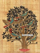 "Egyptian Papyrus Painting - Tree of Life 8X12"" + Hand Painted + Description #92"