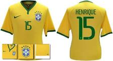 *14 / 15 - NIKE ; BRAZIL PLAYER ISSUE HOME SHIRT SS / HENRIQUE 15 = SIZE*