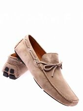 Men's Shoes Loafers ROMEO GIGLI Milano Suede Doeskin Beige Made In Italy New