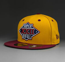 NEW ERA Redskins Superbowl Champs 1988 59Fifty Fitted Cap yellow - 10914550 NEU