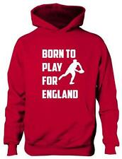 Born To Play For England Rugby English Boys Girls Kids Hoodie Gift  Age 5-13