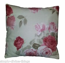 """Vintage Red Rose Cushion Cover Matches Next Curtains 14"""" 16"""" 18"""" 20"""""""