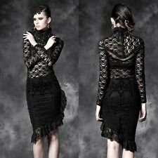 PUNK RAVE Lady In Black Pencil Skirt EDEL ROMANTIC GOTHIC VICTORIAN