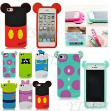 New Arrival Cute 3D Disney Cartoon Silicon Case Cover For Apple iPhone 5S 4S 5 4