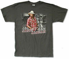 """JASON ALDEAN """"RED PLAID LIVE 2011"""" GREY T-SHIRT NEW OFFICIAL ADULT COUNTRY TOUR"""