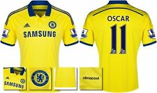 *14 / 15 - ADIDAS ; CHELSEA AWAY SHIRT SS + PATCHES / OSCAR 11 = SIZE*