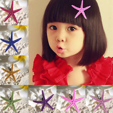 2014 New Womens Girls Cute Starfish Hair Clip Hairpin Prom/Party Jewelry Gift