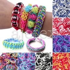 100/200Pcs Refill Loom Rubber Bands With S Clips Loom Tool DIY Bracelet