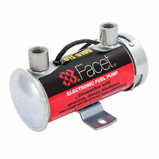 Facet 12v Silver Top Road Cylindrical Electronic Fuel Pump 4 - 4.5 psi /150 bhp