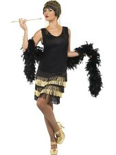 Ladies Flapper Dress Gatsby 20's Fancy Dress ALL SIZES