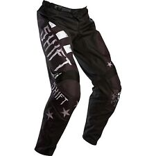 NEW SHIFT RACING MENS GUYS ADULT BLACK ASSAULT TOUGH GUY MX ATV RIDING PANTS
