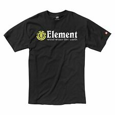 ELEMENT HORIZONTAL BLACK MENS SKATEBOARD T-SHIRT NEW