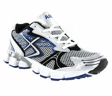 New Men Air Tech Silver Navy Sports Running Jogging Gym Trainers Size 7-13
