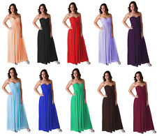 Full Length Evening Gown Bridesmaid Wedding Party Prom Formal Dress Sz 0 -18