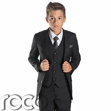 Boys Black Suit, Page Boy Suits, Slim Fit Suit, Prom Suits, Boys Tuxedo