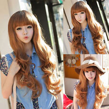 New 26'' Korean Women's Lady Long Wig Full Curly Wavy Party Cosplay Hair Wigs