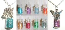 Fairy or Tinkerbell Mini Enchanted Charm Dust Glitter Vial Necklace * U Pic