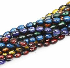 A Strand (about 90pcs)Glass Oval Spacer Beads Gemstone Bead Findings 10x6mm