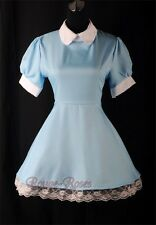 NEW Blue Maid Alice in Wonderland Lolita Outfit Dress Size S-3XL RR 4166_blue