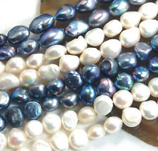 "AAA Natural Freshwater Pearl Nugget Beads 14"" Pick Color Shape"