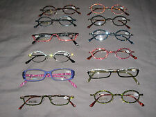 Swarovski Crystal Jeweled Reading Glasses Bling +2.00 Frames Lenses NEW!