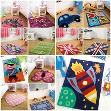 Modern Quality Kid Kiddy Children Boys Girls Rug 16 Colours 4 Different Sizes
