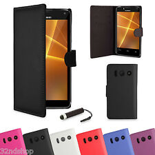 WALLET PU LEATHER CASE COVER FOR HUAWEI ASCEND P6 / P7 FREE SCREEN PROTECTOR