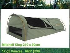 New! OZtrail MITCHELL KING Single Canvas Swag 1 Person Camping Hiking Dome Tent