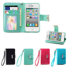 IZENGATE ID Wallet Flip Case PU Leather Cover Folio for Apple iPhone 4 4G 4S