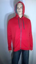 Under Armour Mens Size M Red Hoodie Tech Polyester Fleece Full Zip New