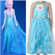 Halloween Frozen Princess kids Girls Queen Elsa Cosplay Fancy Dress Costumes