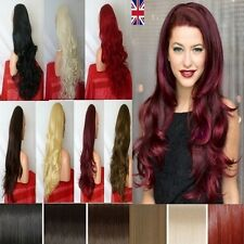Uk Women's 3/4 Wig Fall Half Wig Clip In Hair Piece Long Sexy Texture Wigs Party