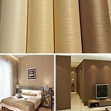 Modern Simple Style Flocking Printing Embossed Textured Wallpaper Roll High-End