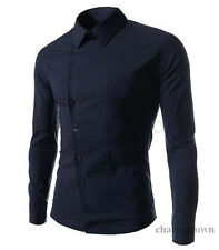 Men's Luxury Stylish Casual Button Down Long Sleeve Slim Fit Dress Shirts Tops