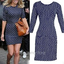 Casual Women Polka Dot Summer Party Cocktail Bodycon Evening Pencil Mini Dress