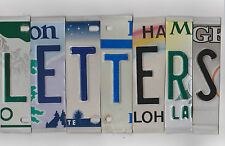MIXED COLOR License Plate Letters for Arts & Crafts Projects Signs Bar Mancave