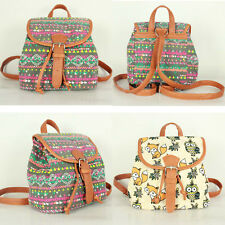 Women Casual Travel Rucksack Cute Canvas Backpack Satchel Schoolbag Shoulder Bag