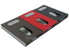 Leather Stainless Steel Business Card Holder Dispenser Name Case