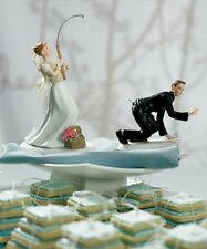Gone Fishing Funny Wedding Cake Topper WITH Custom Hair Colors