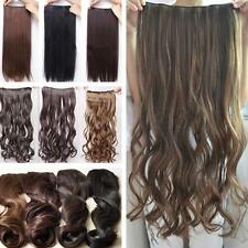 Fashion Long Straight/Curly/Wavy Hair Extensions Clip in Hair Extensions 5 Clips