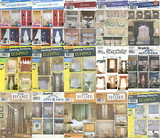Simplicity Window Treatments Sewing Patterns ~ Curtains Drapes Shades Valances