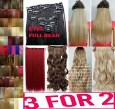 Hair Extensions 8 PCS Full Head Half clip in Hair quality synthetic mimic human