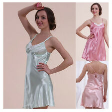 NEW SEXY SATIN SHORT CHEMISE NIGHT DRESS NIGHTDRESS NIGHTIE SLIP
