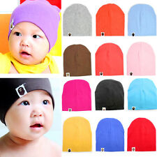 Knit Ball Cap Hat Beanie Stretch Cut Kids Baby Boys Girl Toddler Stretchy Infant