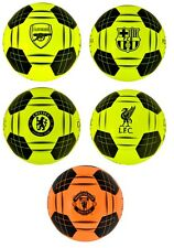 OFFICAL FOOTBALL CLUB - QUALITY SIZE 5 TEAM CREST FLUO BALL SOUVENIR GIFT XMAS