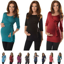 Lovely 2in1 Maternity & Nursing 3/4 Sleeved Wrap Top Size 8 10 12 14 16 18 7035